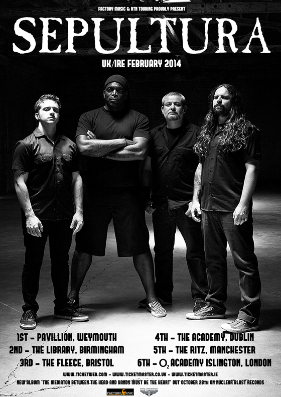 seps_tour_poster Sepultura live at The Academy in Dublin on February 4th, 2014