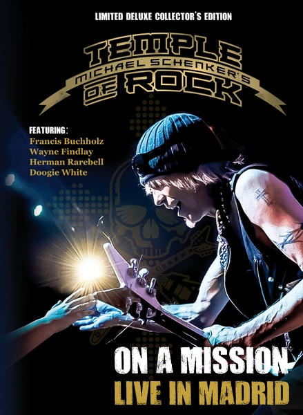 "packshot_hr Michael Schenker's Temple Of Rock ""On A Mission: Live In Madrid"" DVD to be released April 29th"
