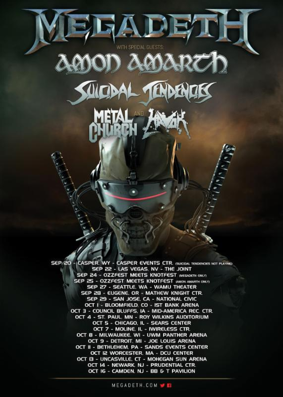 Amon-aroth-Megadeth-poster Amon Amarth announces USA tour with Megadeth, Suicidal Tendencies, Metal Church, Havok