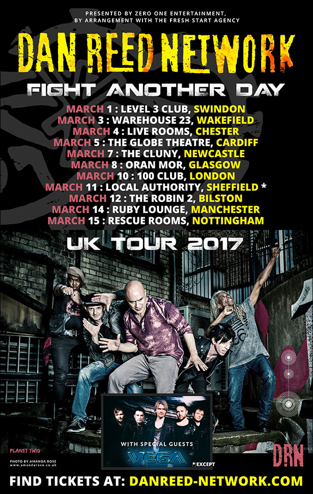 DRN-tour_poster DAN REED NETWORK: New single 'CHAMPION' & U.K. Tour Dates in March 2017