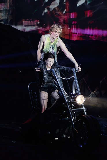 Andrew-Polec-as-Strat-in-BAT-OUT-OF-HELL-THE-MUSICAL-bike-credit-Specular Giovanni Spano talks about getting one of the lead roles (Ledoux) in Jim Steinman's Bat Out of Hell The Musical
