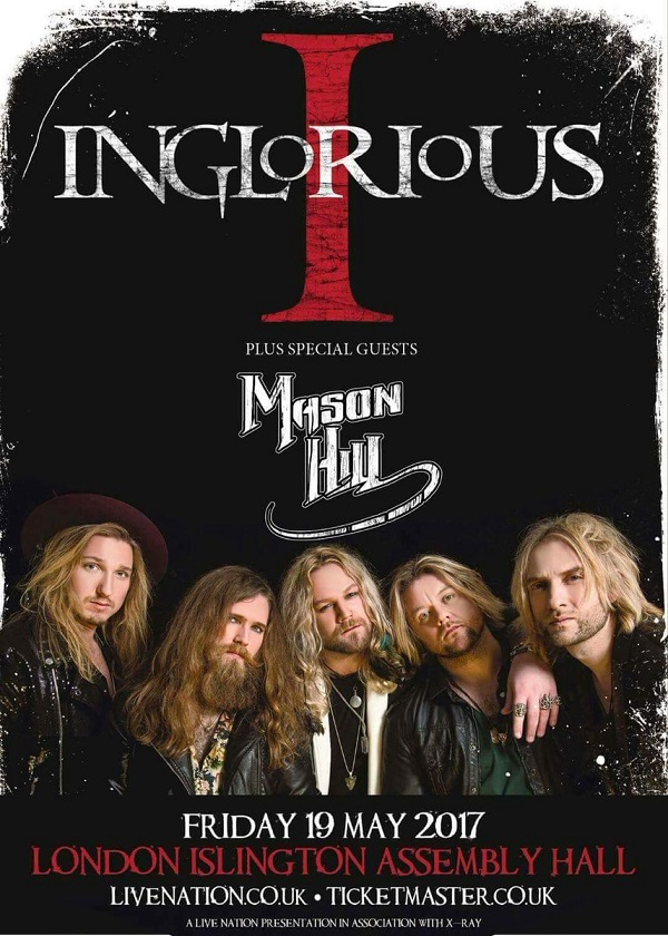 "Inglorious-II-launch ""I'd like David Coverdale's job..."" Inglorious' Nathan James on career aspirations"