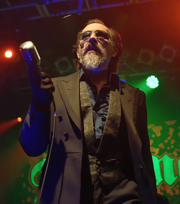 """The-Damned_dv """"We're playing with some new young upstarts"""" Dave Vanian, singer with British Punk legends, The Damned on playing with Green Day at BST."""