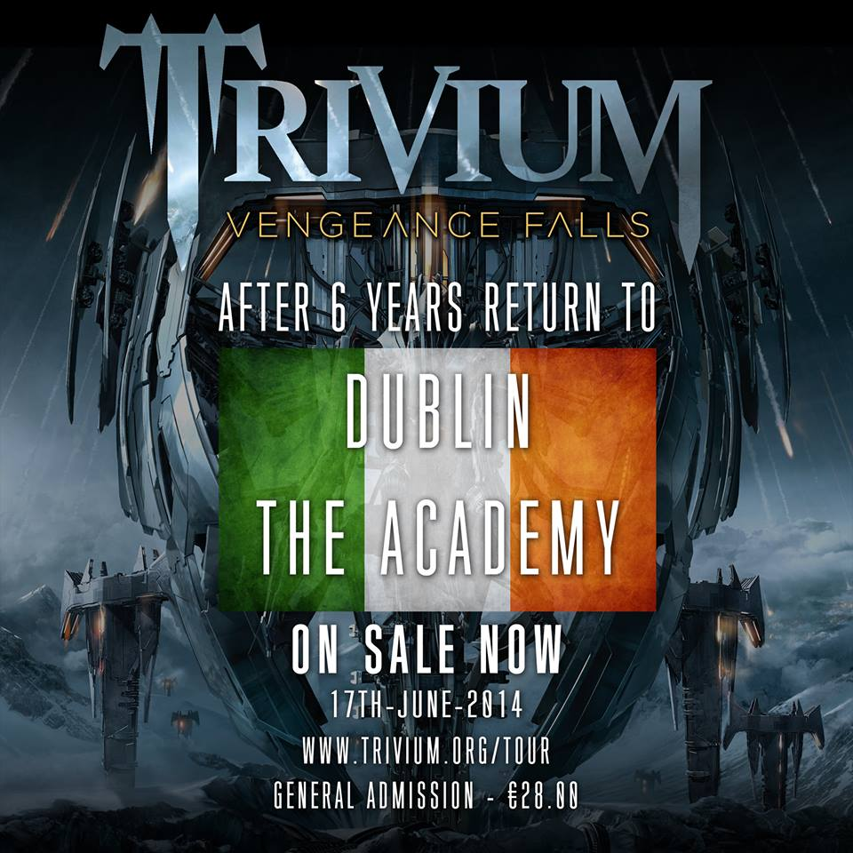trivium-ireland Trivium live at The Academy, Dublin on June 17th, 2014