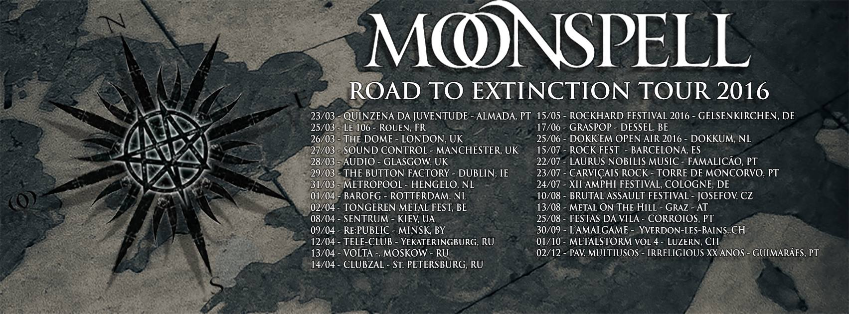 MoonspellUK Tour 2016