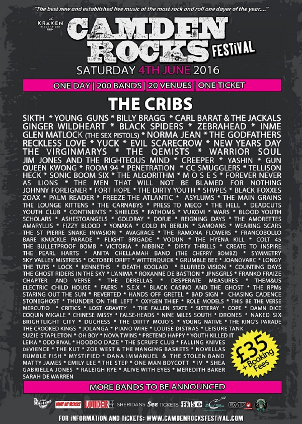Camden Rocks 2016 Poster - April 25(2)