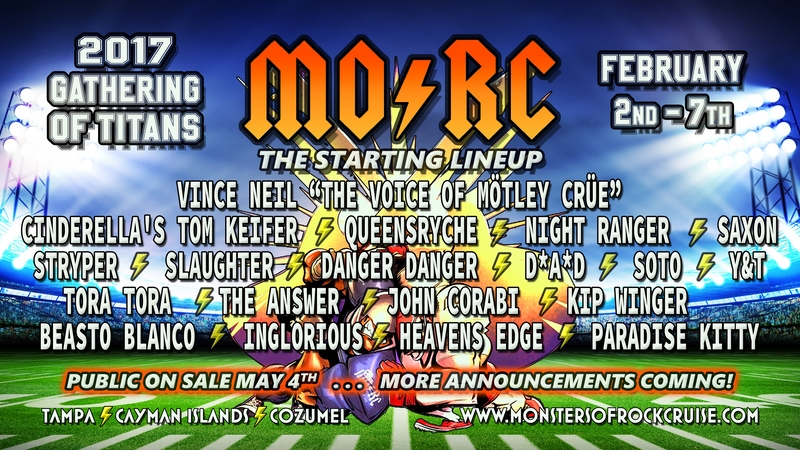 Marquee for Monsters of Rock Cruise 2017
