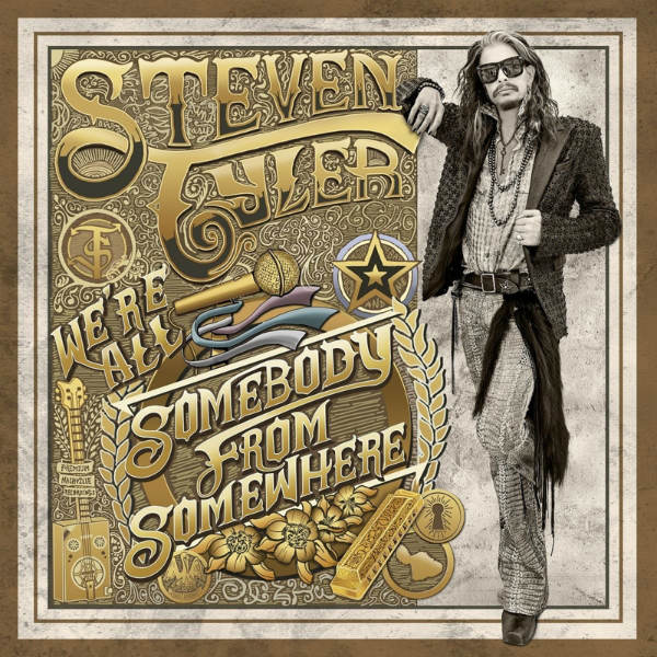 "steve-Album-Article-Framed 3 months later... re-evaluating Steven Tyler's debut album; ""We're All Somebody From Somewhere"""