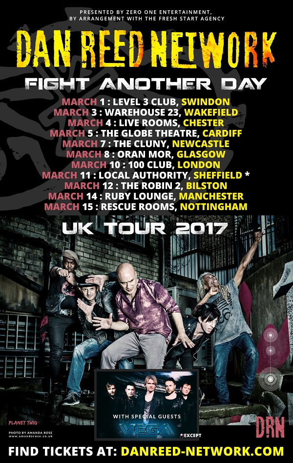 tour_poster_small Dan Reed Network, Vega, Live at The 100 Club, London, March 10th 2017