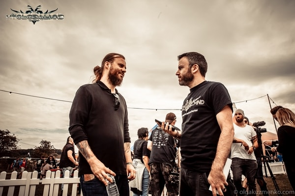 """Decapitated_2-1 Interview with Waclaw """"Vogg"""" Kieltyka  (Guitars) of Decapitated at Bloodstock on 11th of August, 2017"""