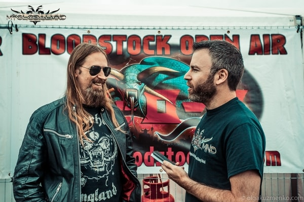 Amon_1 Interview with Johan Söderberg (Guitars) of Amon Amarth at Bloodstock on 11th of August 2017