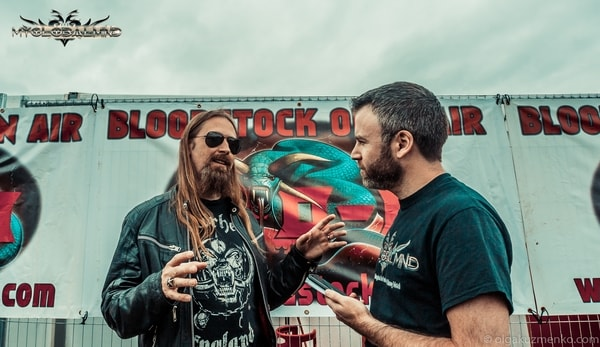 Amon_2 Interview with Johan Söderberg (Guitars) of Amon Amarth at Bloodstock on 11th of August 2017
