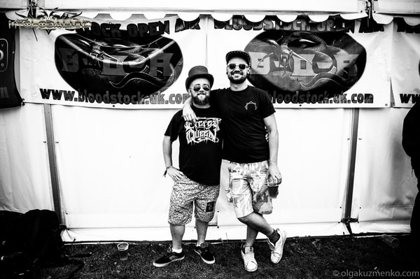 zhOra-3 Interview with Tom Woodlock (Drums) and Batman (Bass) of zhOra at Bloodstock 2017