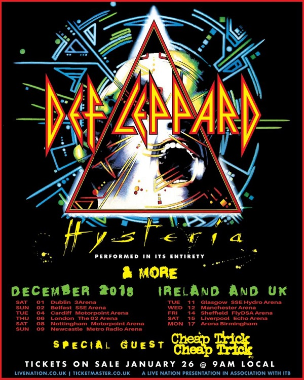 def leppard announce uk ireland tour with cheap trick us tour with journey stream back. Black Bedroom Furniture Sets. Home Design Ideas