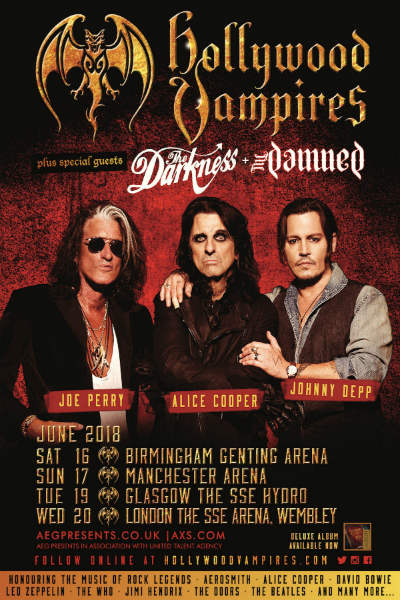 the hollywood vampires announce line up for first ever uk. Black Bedroom Furniture Sets. Home Design Ideas