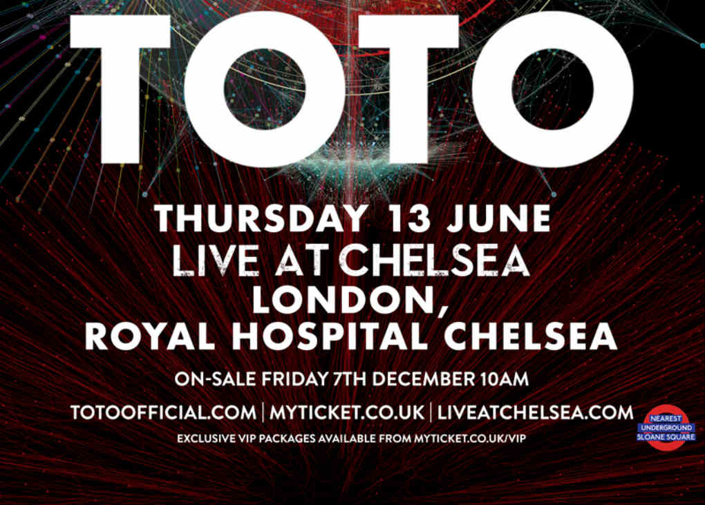 TOTO To Perform at LIVE AT CHELSEA 2019